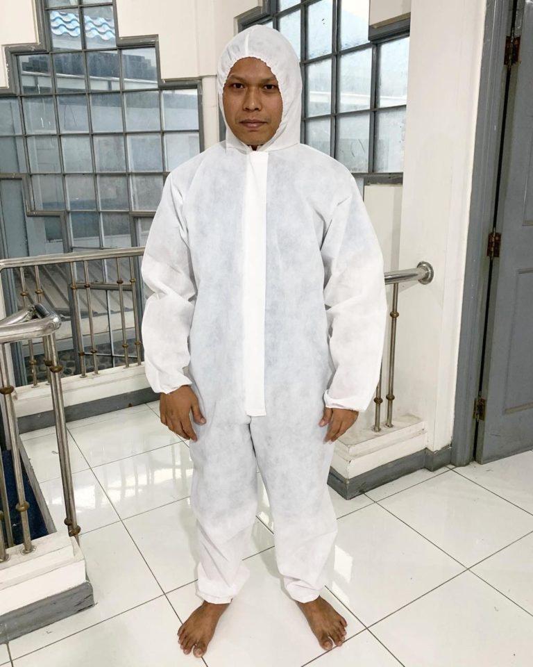 baju hazmat putih